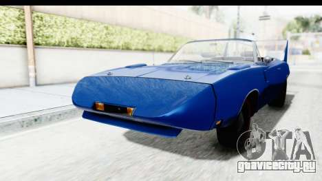 Dodge Charger Daytona 1969 Cabrio для GTA San Andreas вид справа