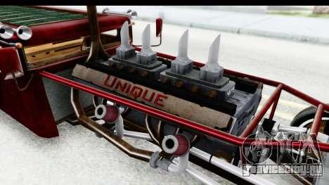 Unique V16 Fordor Ratrod для GTA San Andreas вид изнутри