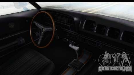 Mercury Cyclone Spoiler 1970 для GTA San Andreas вид изнутри
