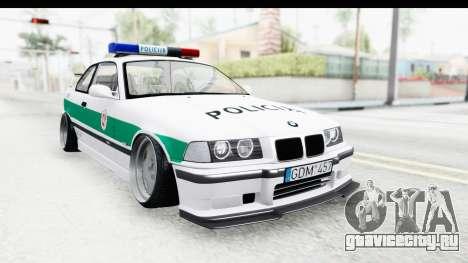 BMW M3 E36 Stance Lithuanian Police для GTA San Andreas