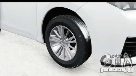Toyota Corolla 2015 для GTA San Andreas вид сзади