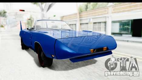 Dodge Charger Daytona 1969 Cabrio для GTA San Andreas