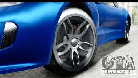 GTA 5 Grotti Bestia GTS для GTA San Andreas вид сзади