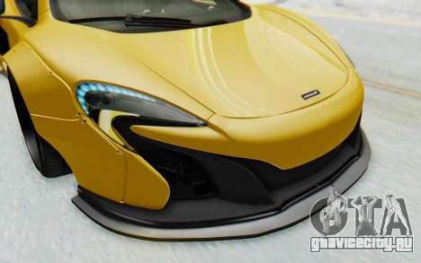 McLaren 650S Spyder ZenWorks для GTA San Andreas салон