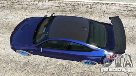BMW M4 2015 v0.01 для GTA 5 вид сзади