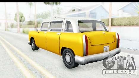 Cabbie London для GTA San Andreas вид сзади слева