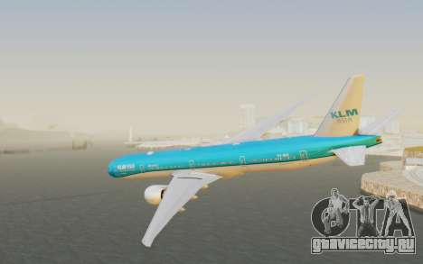Boeing 777-300ER KLM - Royal Dutch Airlines v2 для GTA San Andreas вид слева