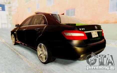 Mercedes-Benz E63 German Police Green для GTA San Andreas вид слева