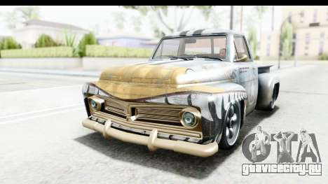 GTA 5 Vapid Slamvan without Hydro IVF для GTA San Andreas вид снизу