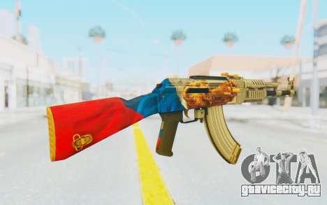 AK-47A1 Russian Flag для GTA San Andreas третий скриншот