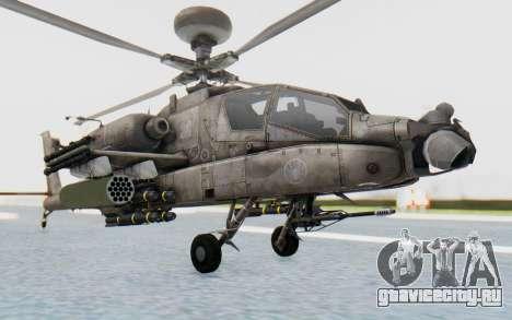 AH-64 Apache Desert для GTA San Andreas вид справа