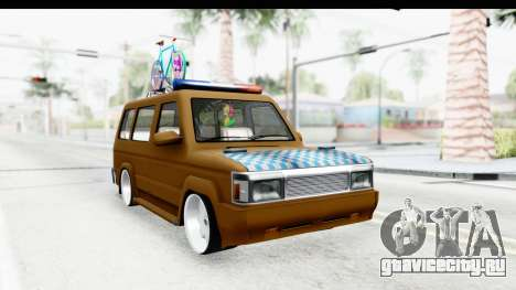Toyota Kijang Grand Extra with Bike для GTA San Andreas