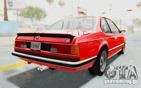 BMW M635 CSi (E24) 1984 IVF PJ2 для GTA San Andreas вид сзади слева