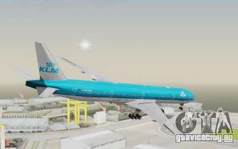 Boeing 777-300ER KLM - Royal Dutch Airlines v3 для GTA San Andreas вид слева