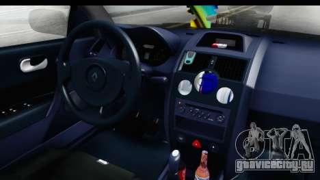 Renault Megane Sport для GTA San Andreas вид изнутри