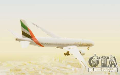 Boeing 777-300ER Emirates для GTA San Andreas вид справа
