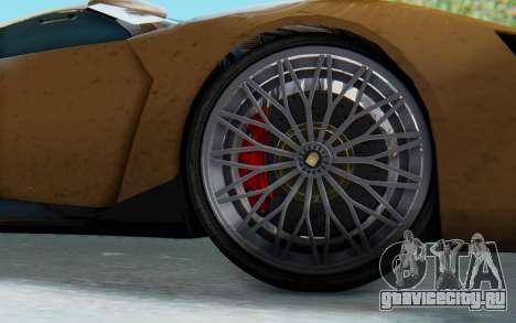 GTA 5 Pegassi Reaper SA Lights для GTA San Andreas вид сзади слева