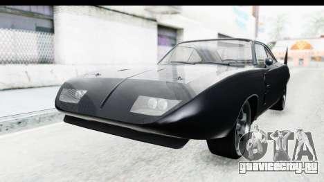 Dodge Charger Daytona F&F для GTA San Andreas вид справа