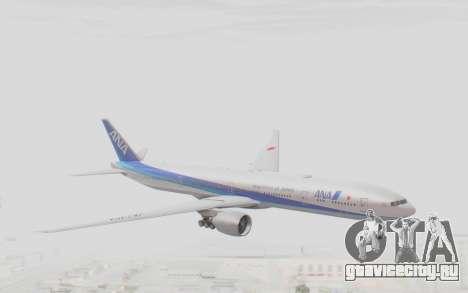 Boeing 777-300ER ANA JA735A для GTA San Andreas вид сзади слева