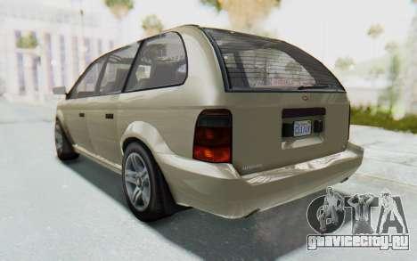 GTA 5 Vapid Minivan IVF для GTA San Andreas вид слева