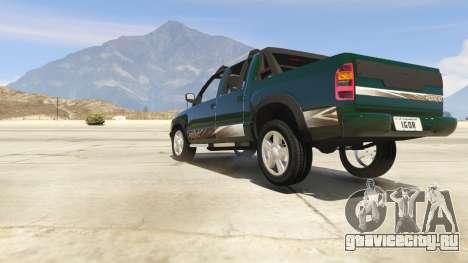 2011 Chevrolet S-10 Rodeio для GTA 5 вид сзади