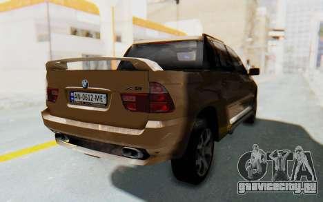 BMW X5 Pickup для GTA San Andreas вид сзади слева