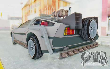 DeLorean DMC-12 2012 End Of The World для GTA San Andreas вид слева