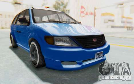 GTA 5 Vapid Minivan Custom для GTA San Andreas вид справа