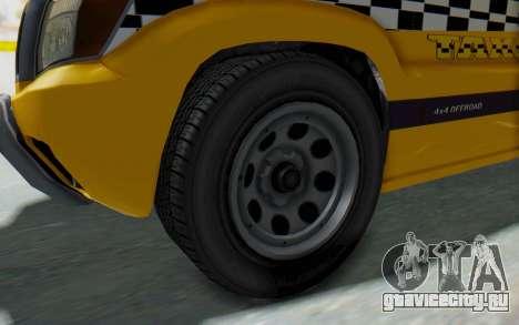 Canis Seminole Taxi для GTA San Andreas вид сзади