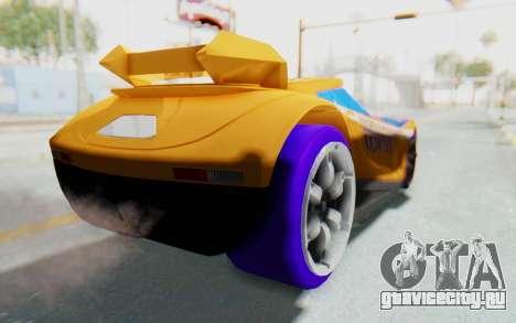 Hot Wheels AcceleRacers 4 для GTA San Andreas вид сзади слева
