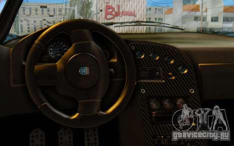GTA 5 Grotti Cheetah SA Lights для GTA San Andreas вид сзади