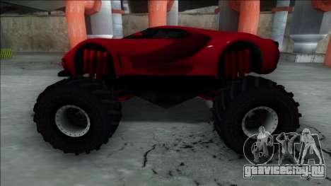 GTA V Vapid FMJ Monster Truck для GTA San Andreas вид справа