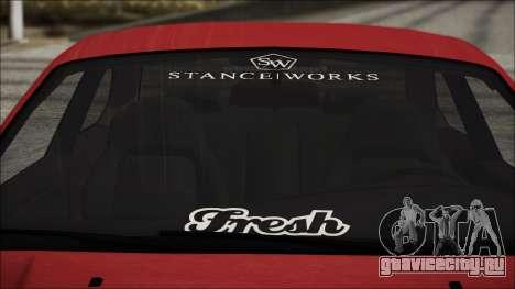 BMW E36 Stance для GTA San Andreas вид изнутри