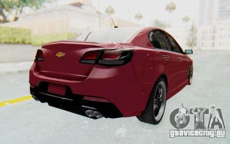 Chevrolet Super Sport 2014 для GTA San Andreas вид слева