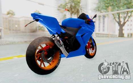 Kawasaki Ninja 250R Streetrace для GTA San Andreas вид сзади слева