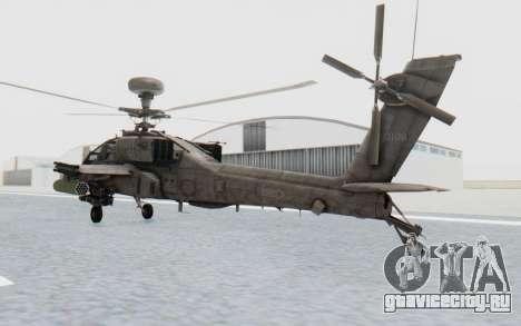 AH-64 Apache Desert для GTA San Andreas вид слева