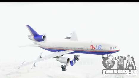 DC-10 Fly Us для GTA San Andreas вид сзади слева
