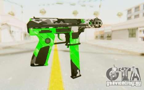 Tec-9 Neural Green для GTA San Andreas второй скриншот