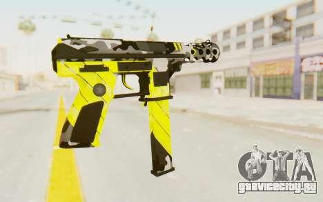 Tec-9 Neural Yellow для GTA San Andreas второй скриншот