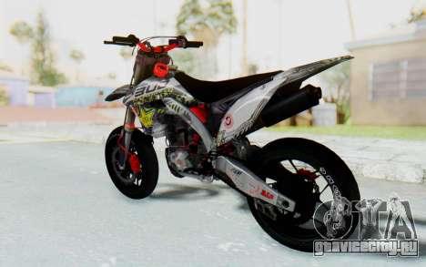 Kawasaki KX125 Supermoto v2 High Modif для GTA San Andreas вид слева