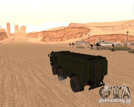 КАМАЗ 63968 Тайфун для GTA San Andreas вид сзади слева