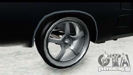 Dodge Charger Daytona F&F для GTA San Andreas вид сзади