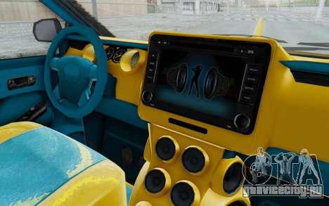 GTA 5 Vapid Minivan Custom IVF для GTA San Andreas вид изнутри