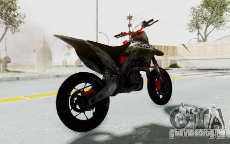 Kawasaki KX125 Supermoto v2 High Modif для GTA San Andreas вид сзади слева