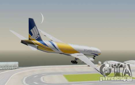 Boeing 777-300ER Singapore Airlines v2 для GTA San Andreas вид слева