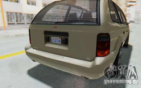 GTA 5 Vapid Minivan IVF для GTA San Andreas вид сверху