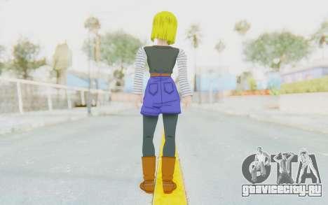 Dragon Ball Xenoverse Android 18 No Jacket для GTA San Andreas третий скриншот