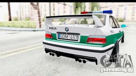 BMW M3 E36 Stance Lithuanian Police для GTA San Andreas вид сбоку
