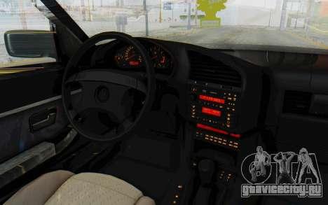 BMW 325tds E36 для GTA San Andreas вид изнутри