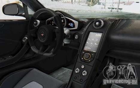 McLaren 650S Spyder ZenWorks для GTA San Andreas вид изнутри